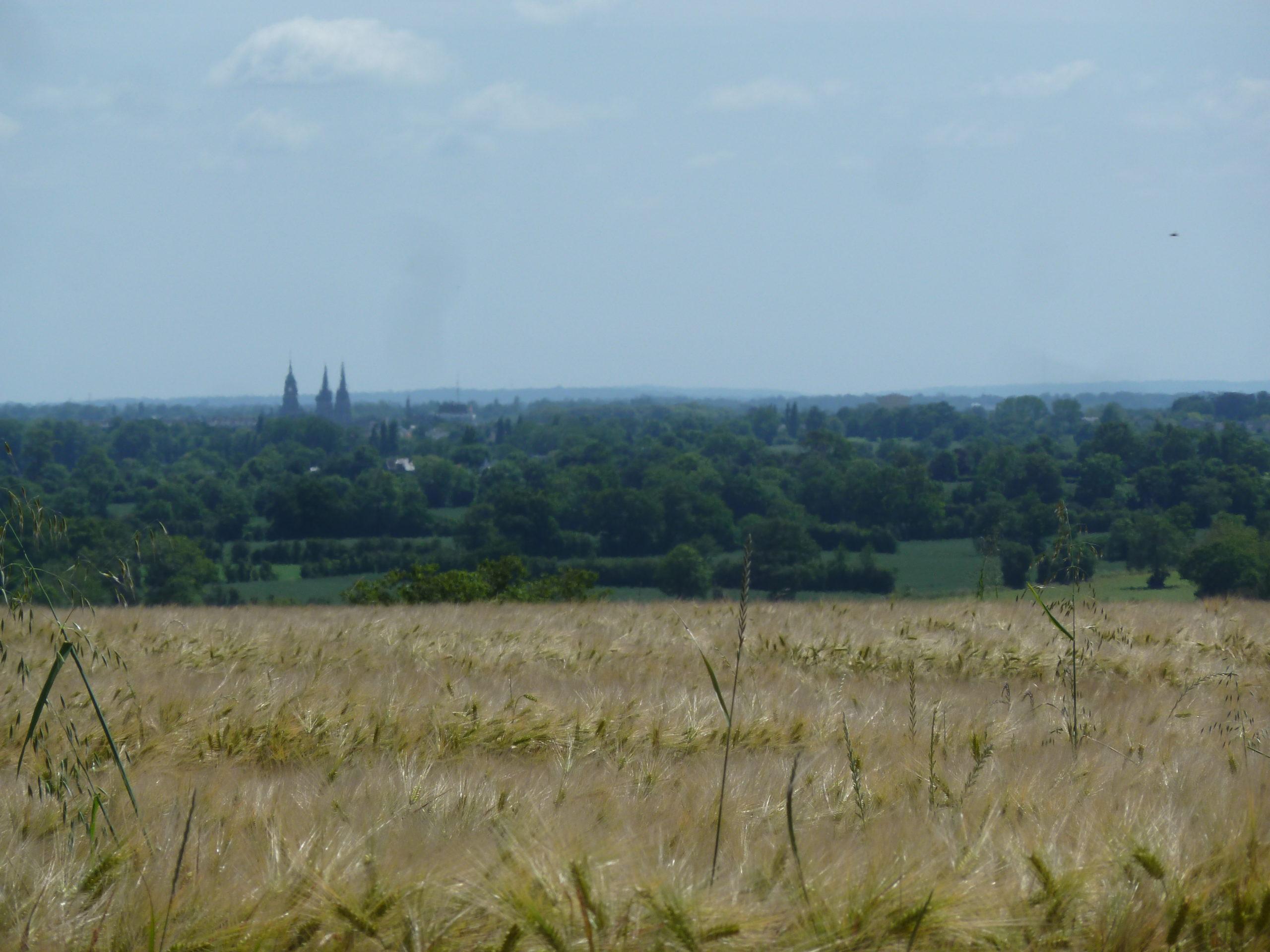 Vue vers Bayeux